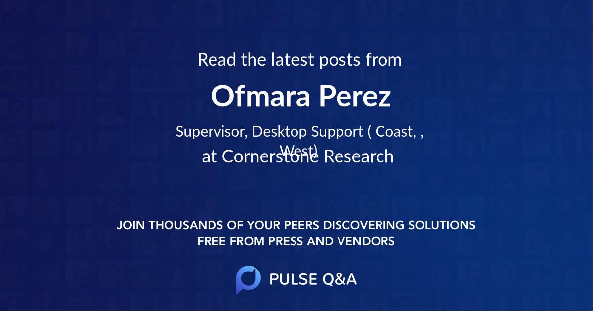 Ofmara Perez