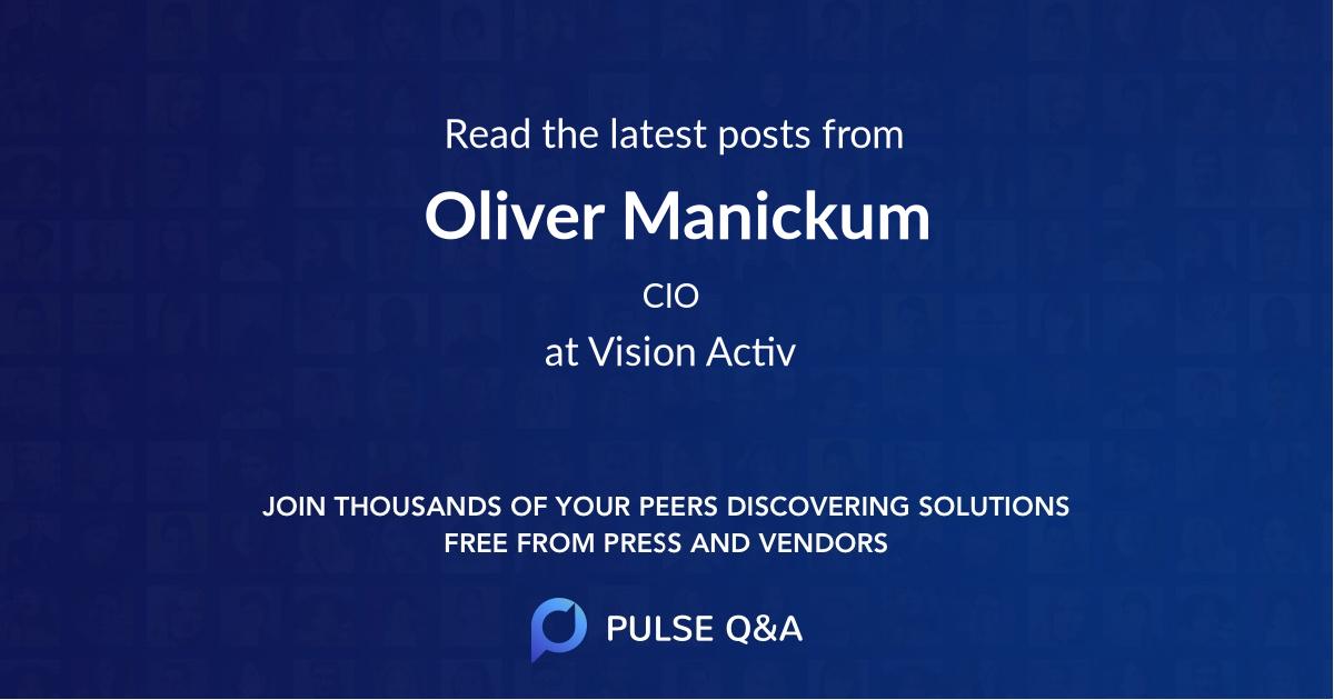 Oliver Manickum