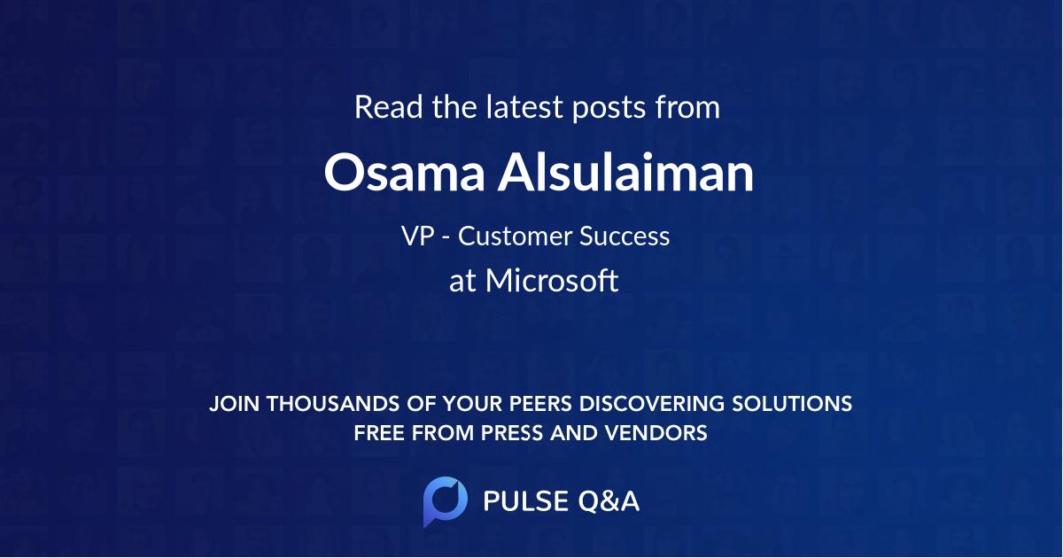 Osama Alsulaiman