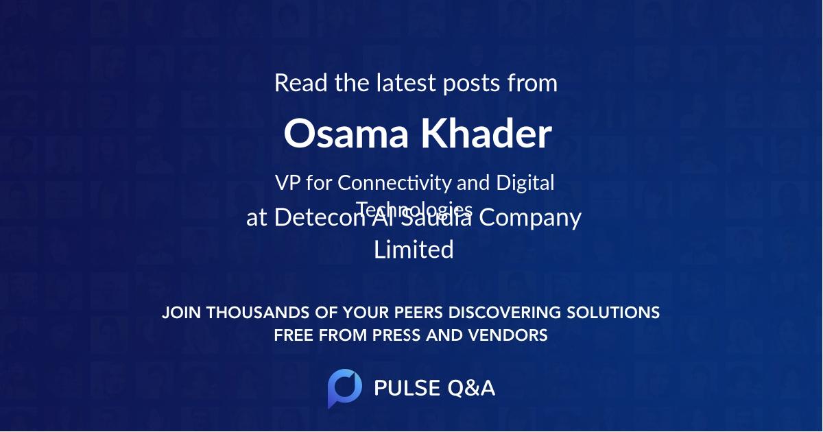 Osama Khader