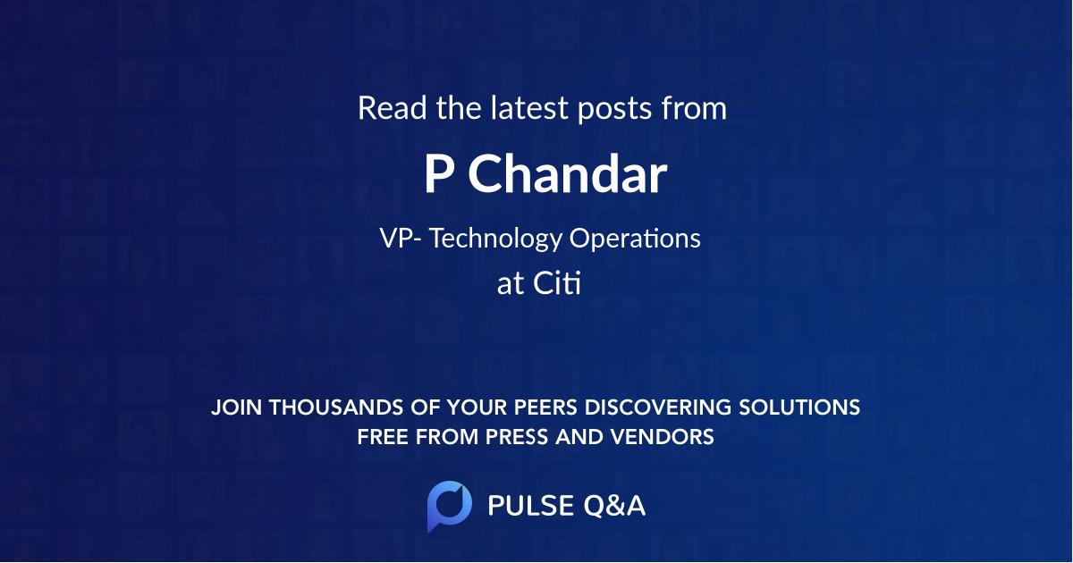 P Chandar