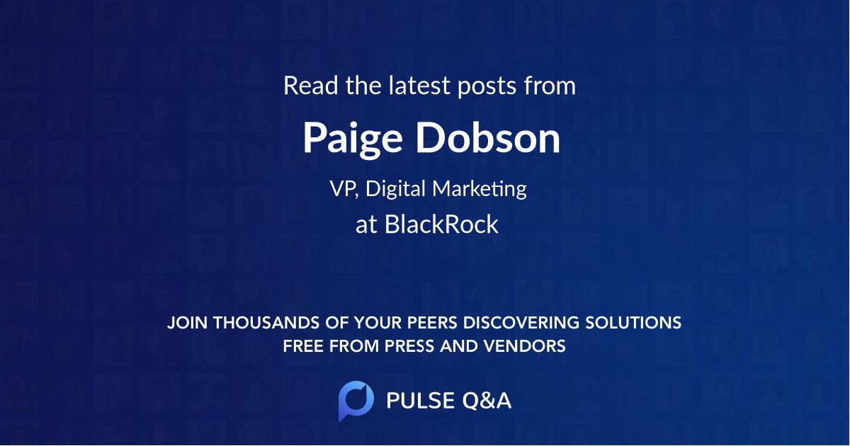Paige Dobson