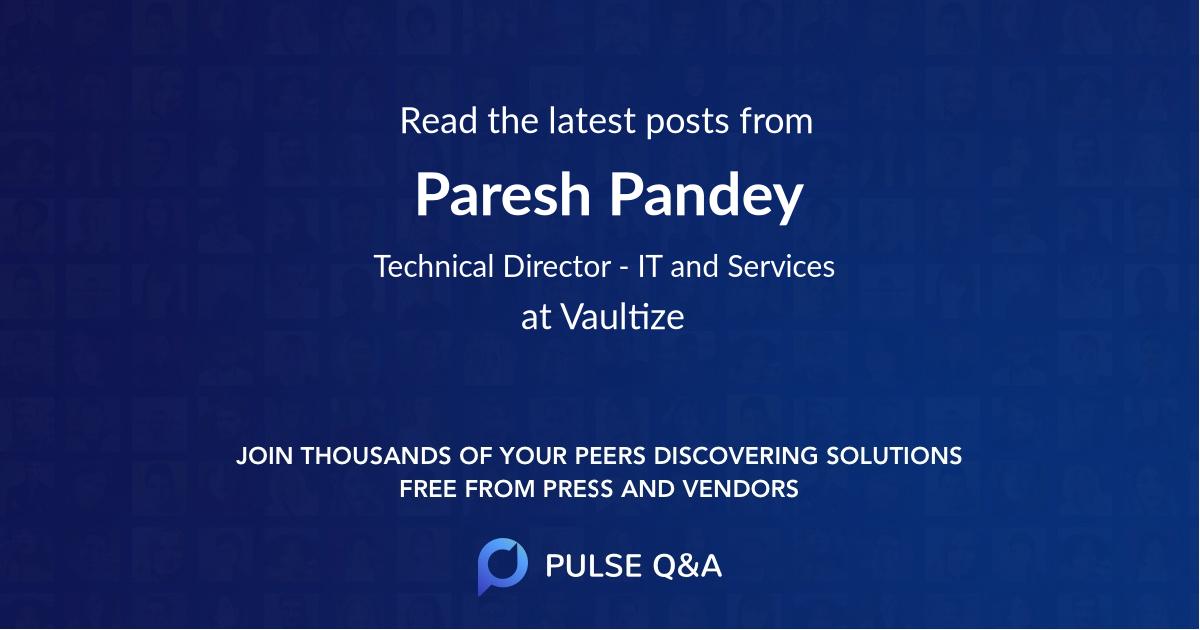 Paresh Pandey