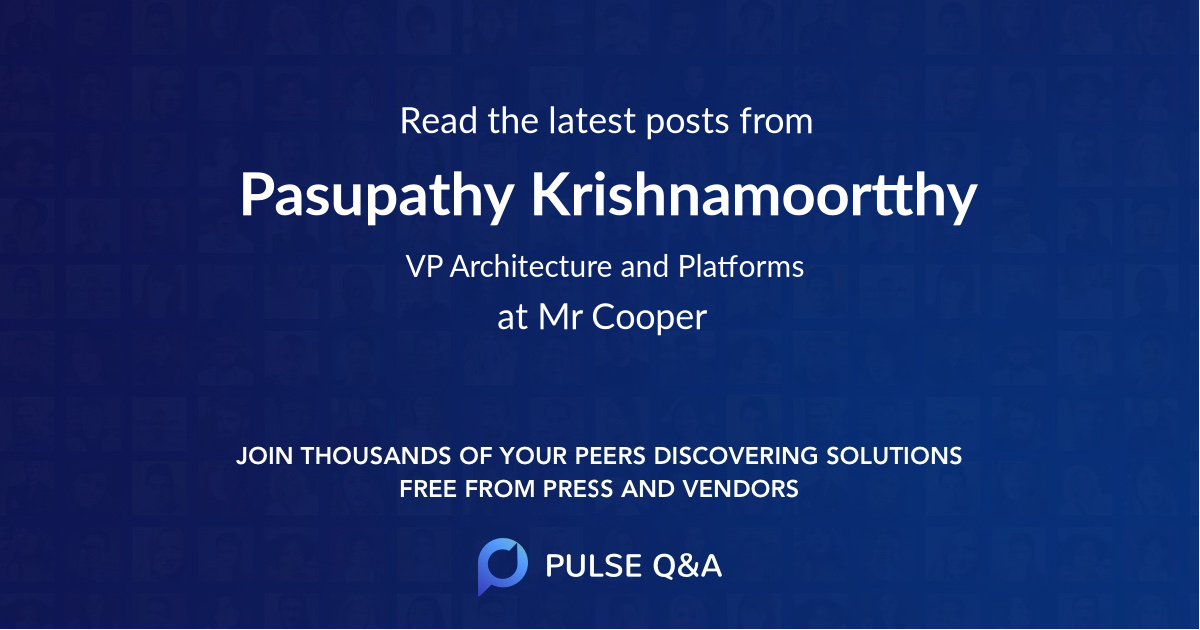 Pasupathy Krishnamoortthy