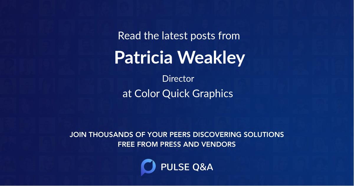 Patricia Weakley