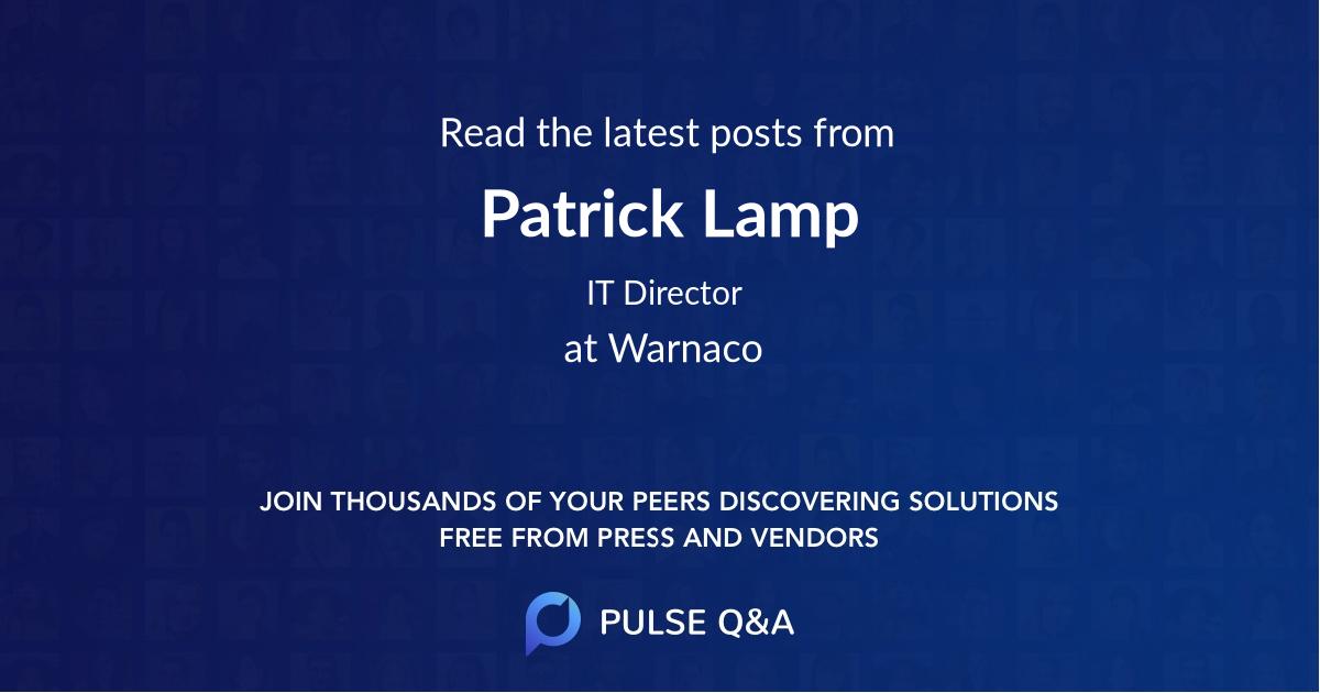 Patrick Lamp