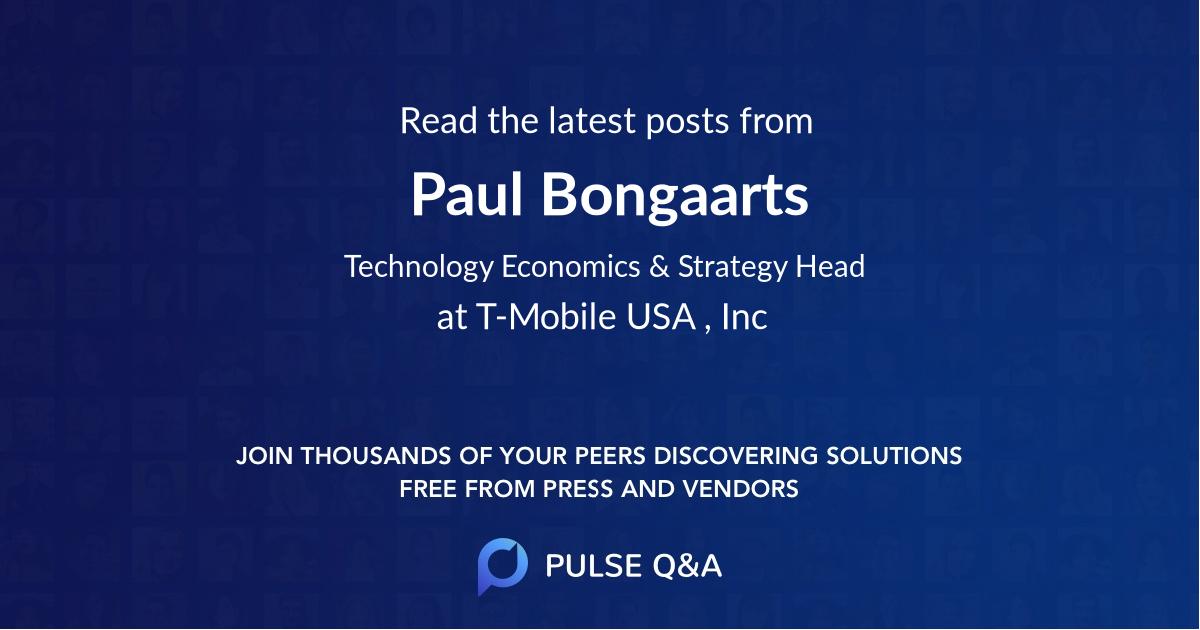 Paul Bongaarts