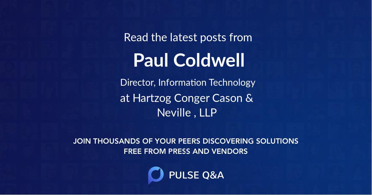 Paul Coldwell