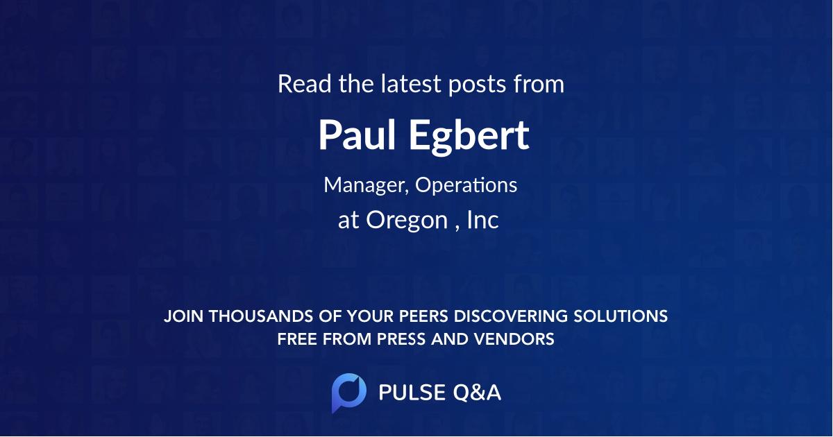 Paul Egbert