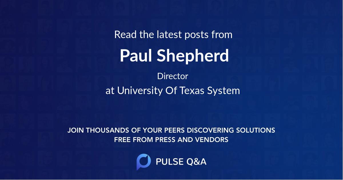 Paul Shepherd