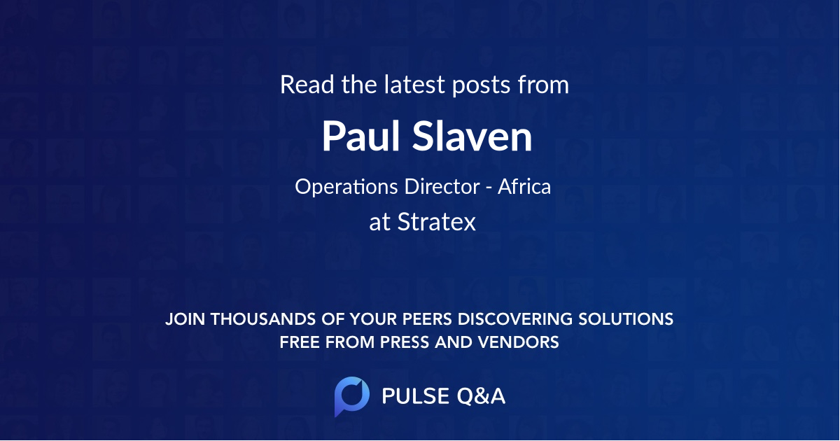 Paul Slaven