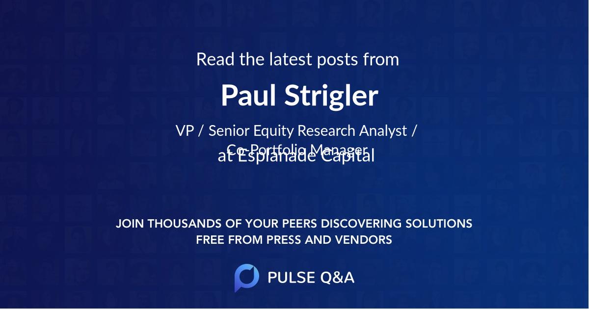 Paul Strigler