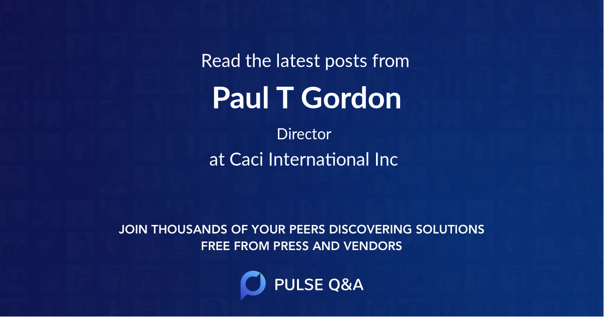 Paul T Gordon