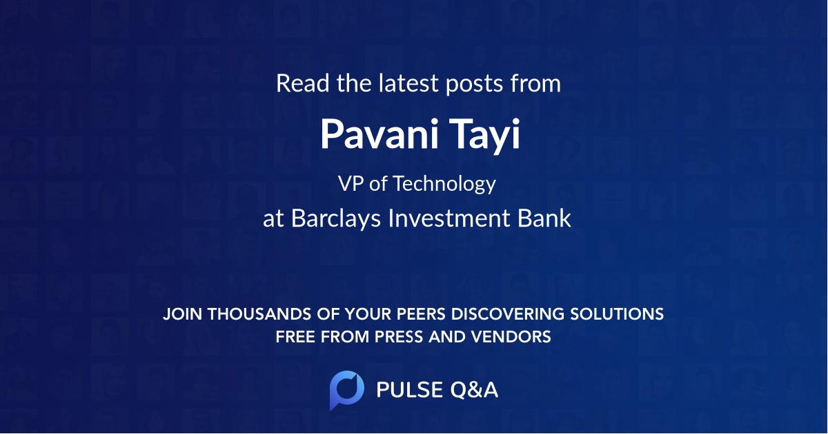 Pavani Tayi