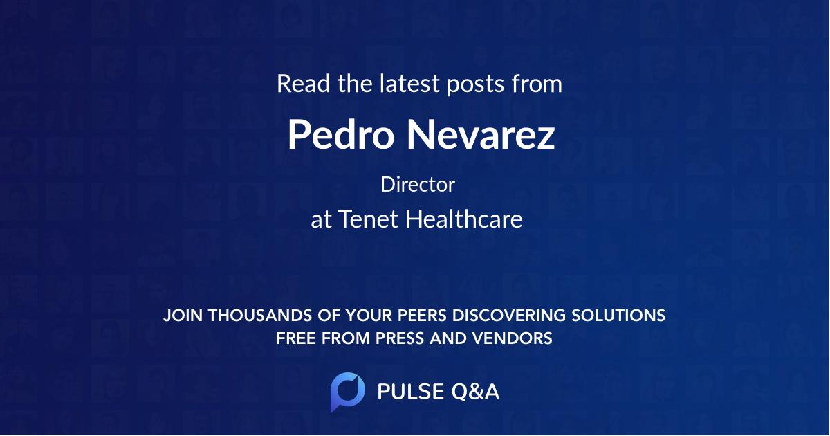 Pedro Nevarez