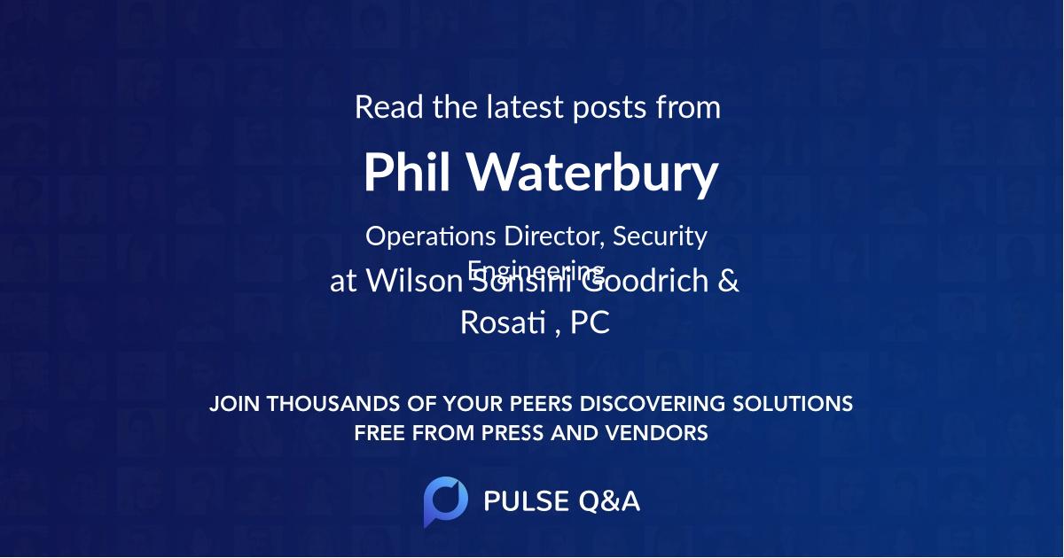 Phil Waterbury