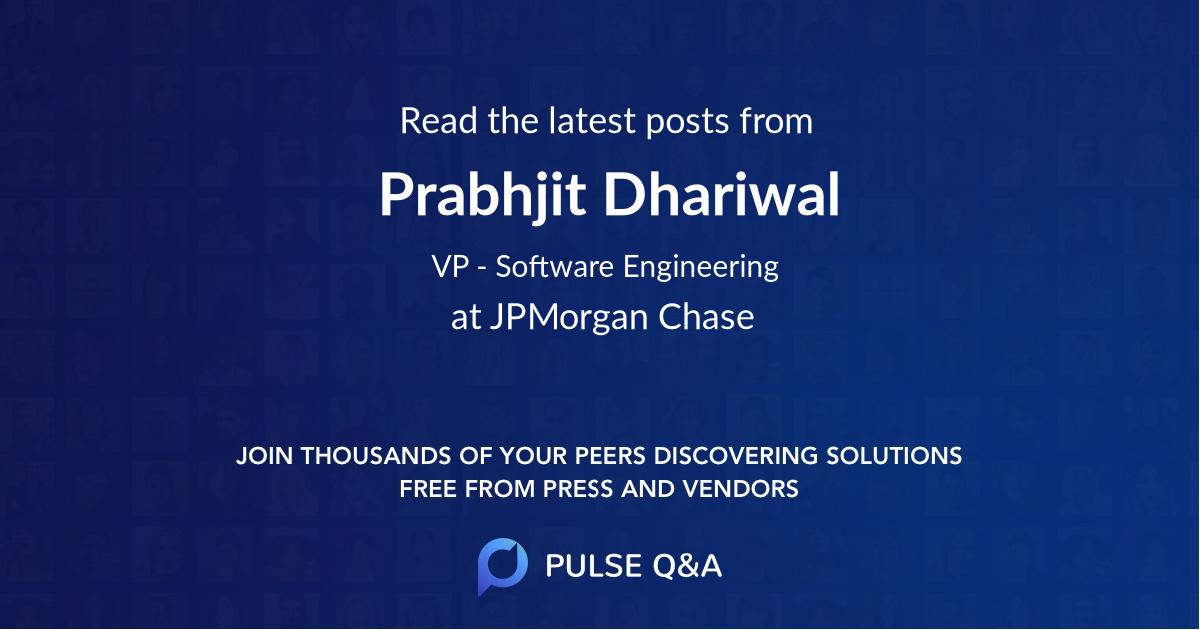 Prabhjit Dhariwal