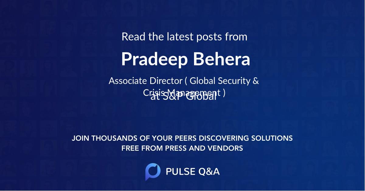 Pradeep Behera