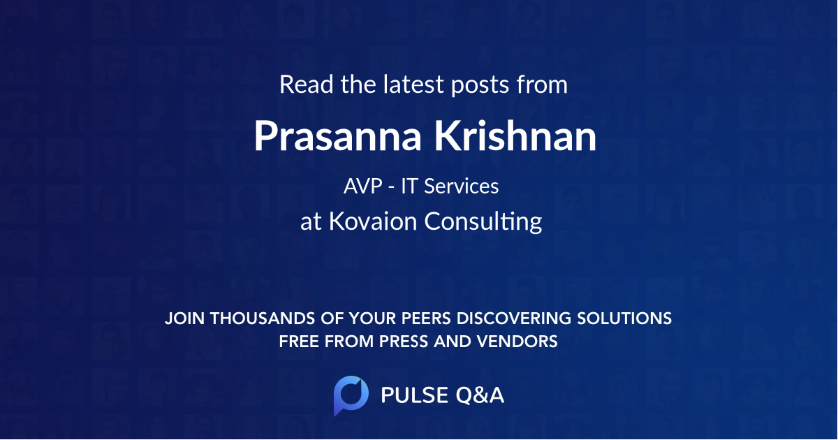 Prasanna Krishnan