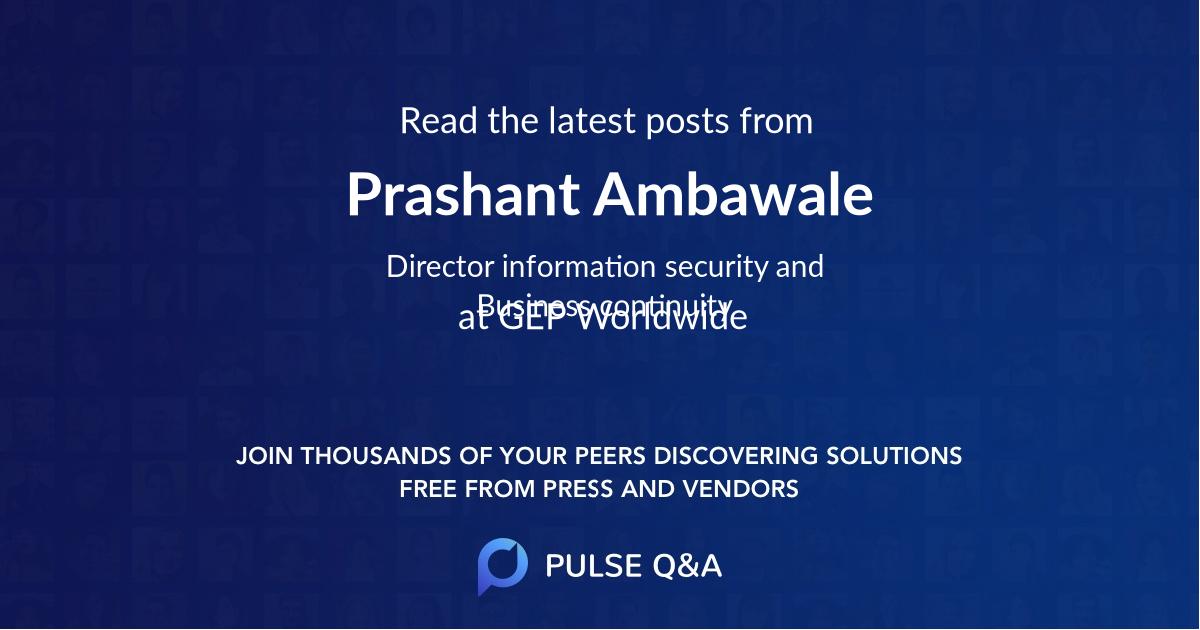 Prashant Ambawale