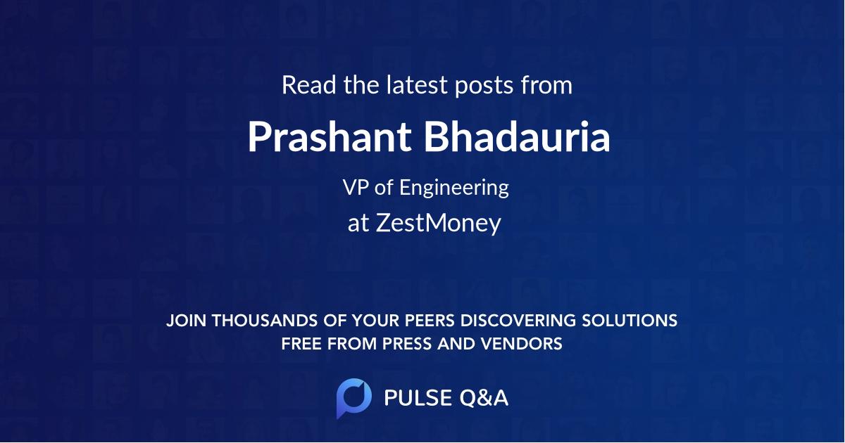 Prashant Bhadauria