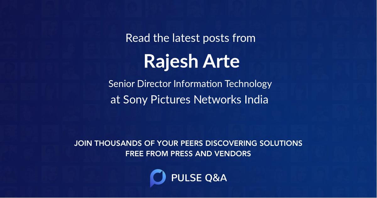 Rajesh Arte