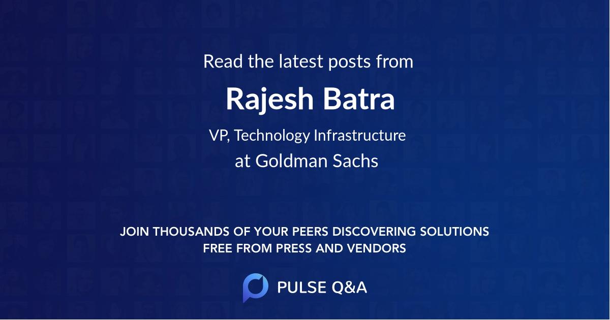 Rajesh Batra