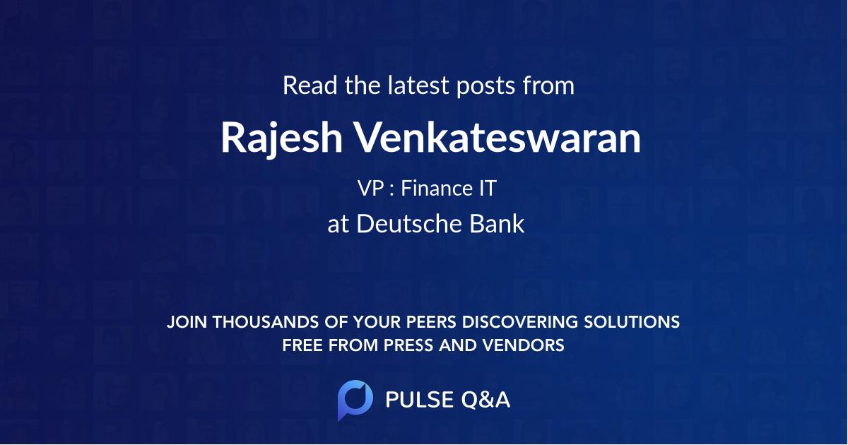 Rajesh Venkateswaran