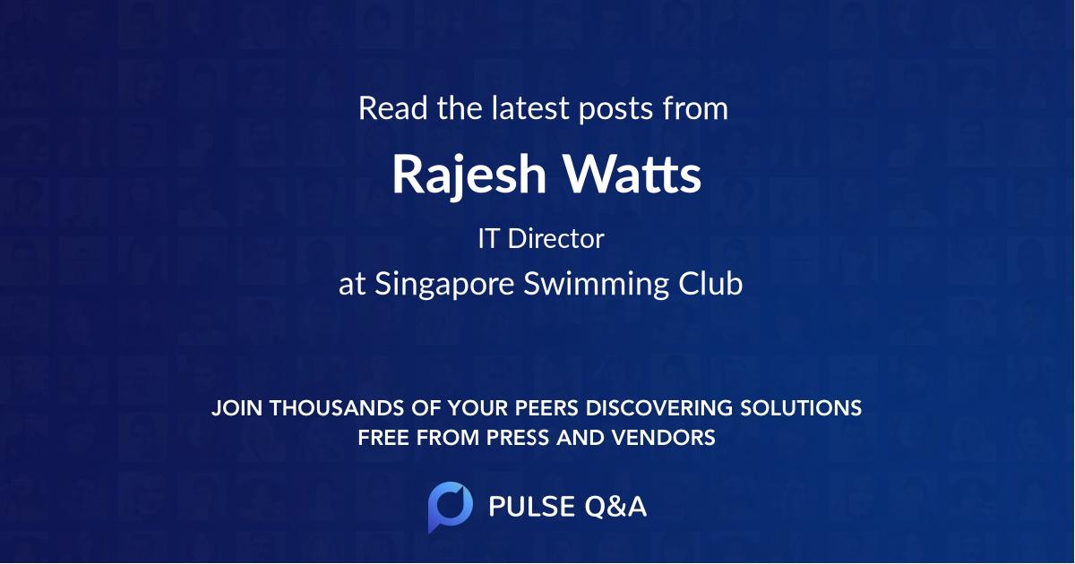 Rajesh Watts