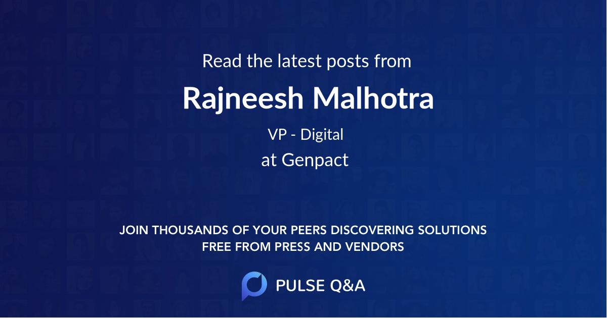Rajneesh Malhotra