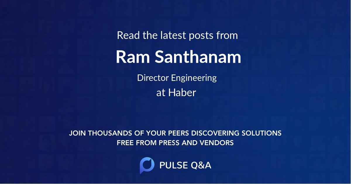 Ram Santhanam