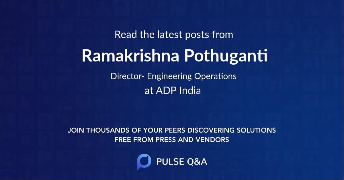 Ramakrishna Pothuganti