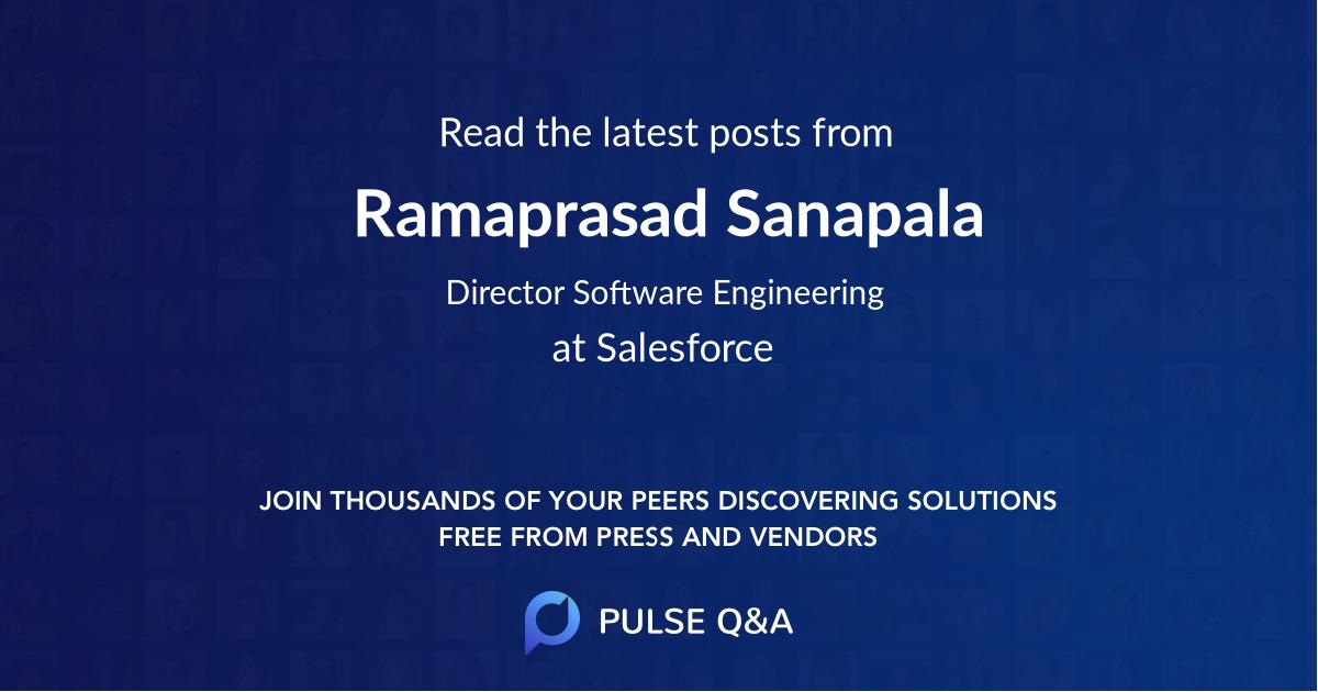 Ramaprasad Sanapala