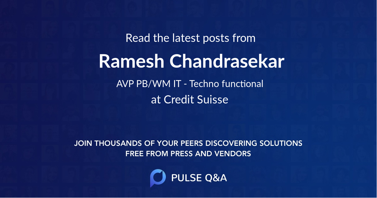 Ramesh Chandrasekar