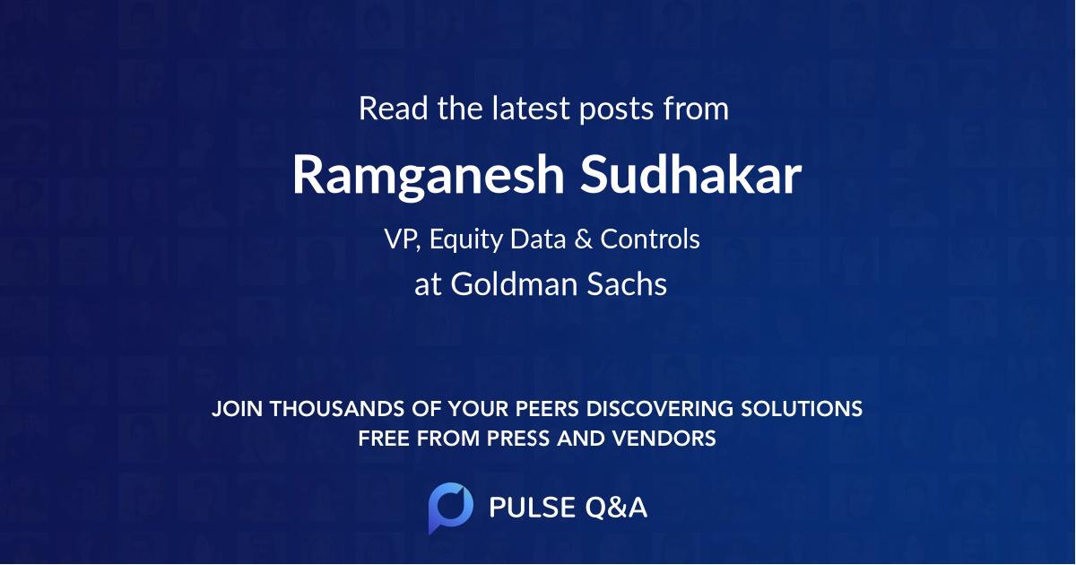 Ramganesh Sudhakar