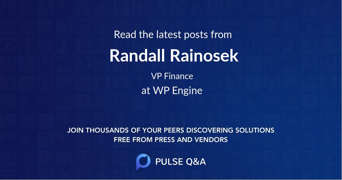 Randall Rainosek