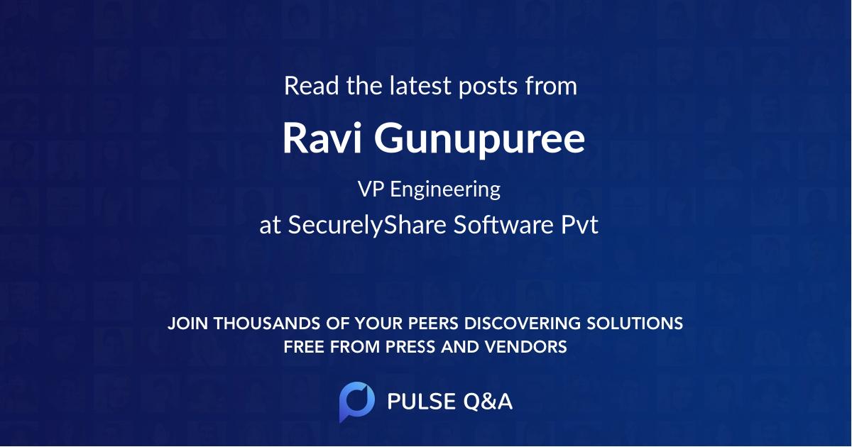 Ravi Gunupuree