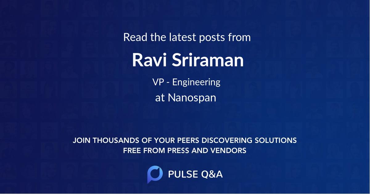 Ravi Sriraman