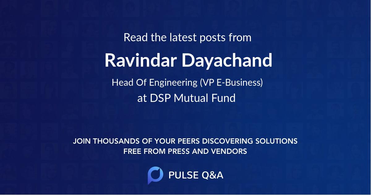 Ravindar Dayachand