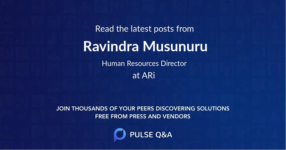 Ravindra Musunuru