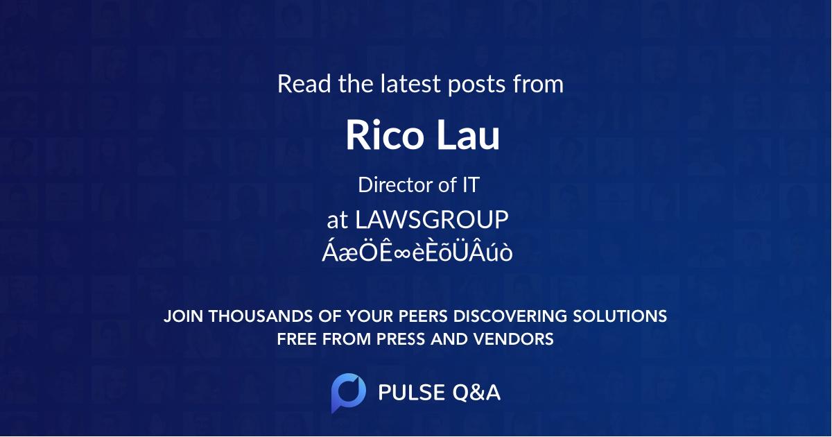 Rico Lau