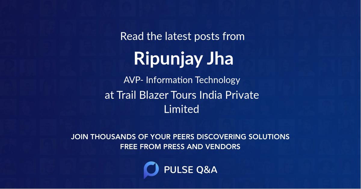 Ripunjay Jha