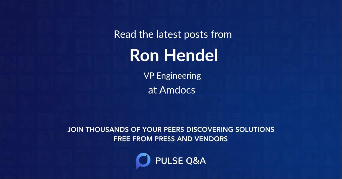 Ron Hendel