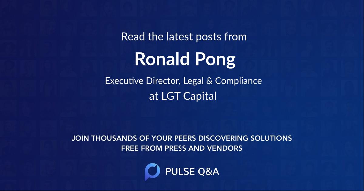 Ronald Pong