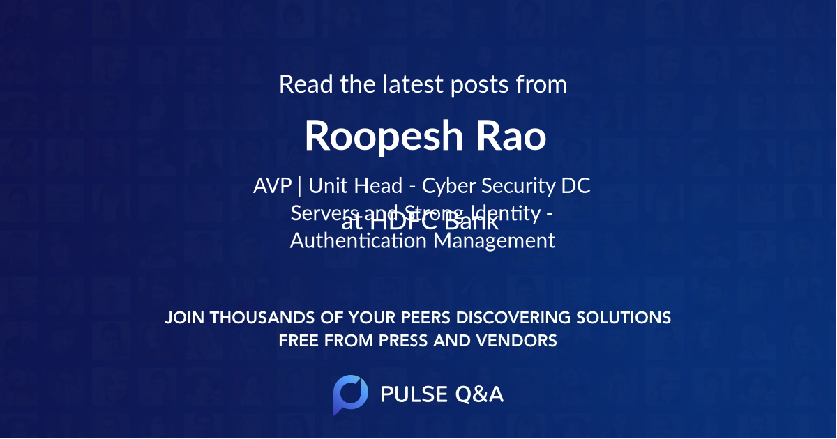 Roopesh Rao