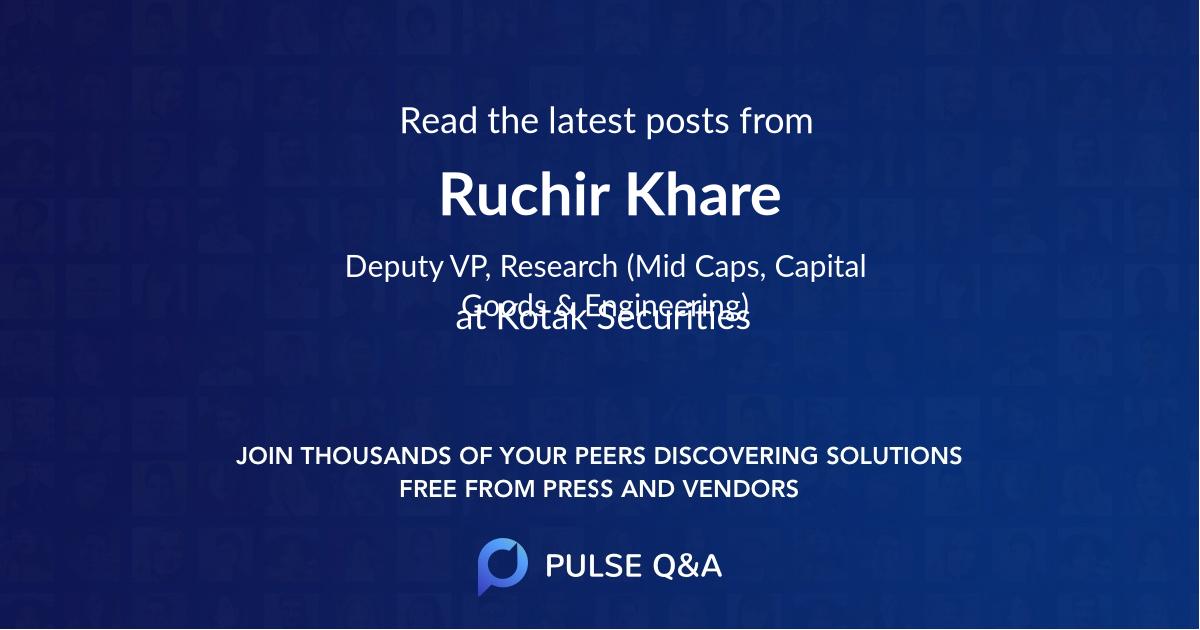 Ruchir Khare