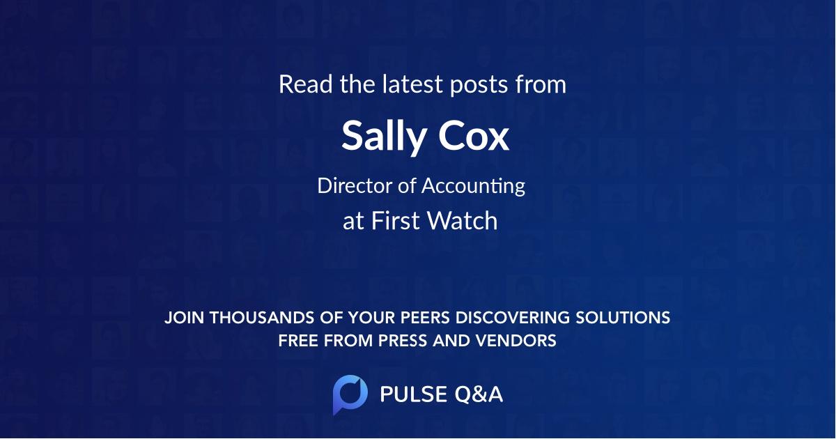 Sally Cox