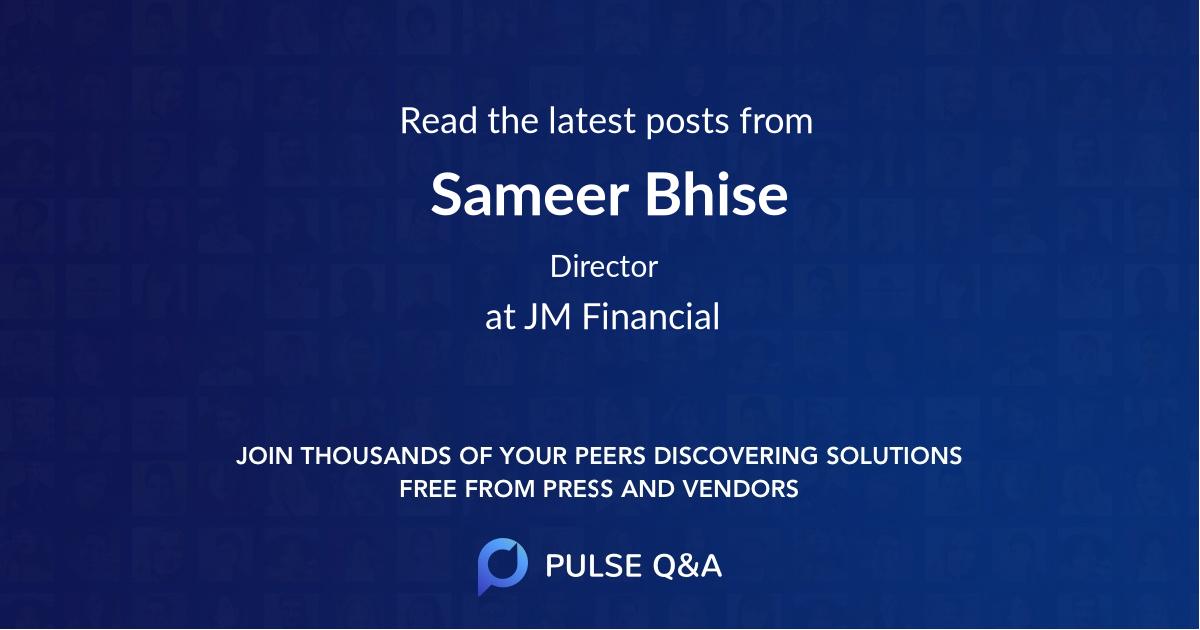 Sameer Bhise