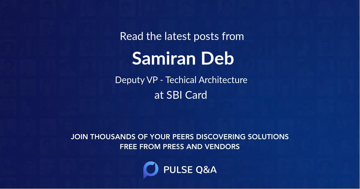 Samiran Deb