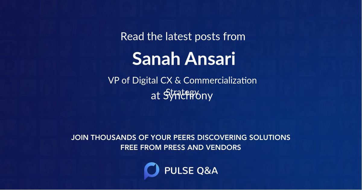 Sanah Ansari
